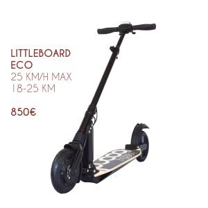 Trottinette électrique Littleboard S2 Eco. Pliable, légère et étanche.