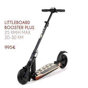 Trottinette électrique Littleboard Booster Plus. Pliable, légère et étanche.