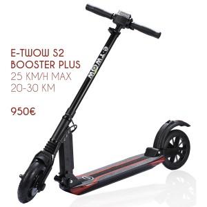 Trottinette électrique E-twow Booster Plus. Pliable, légère et étanche.
