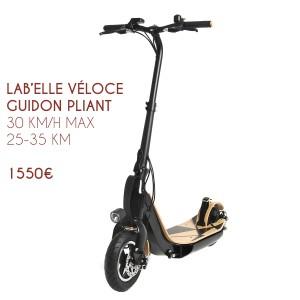 Trottinette électrique Lab'Elle Véloce - Guidon pliant