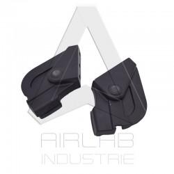 Oreilles de cadre avant noires pour trottinette électrique E-TWOW GT