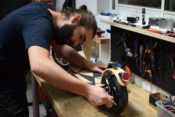 Trottinette électrique Lab'Elle panneau solaire